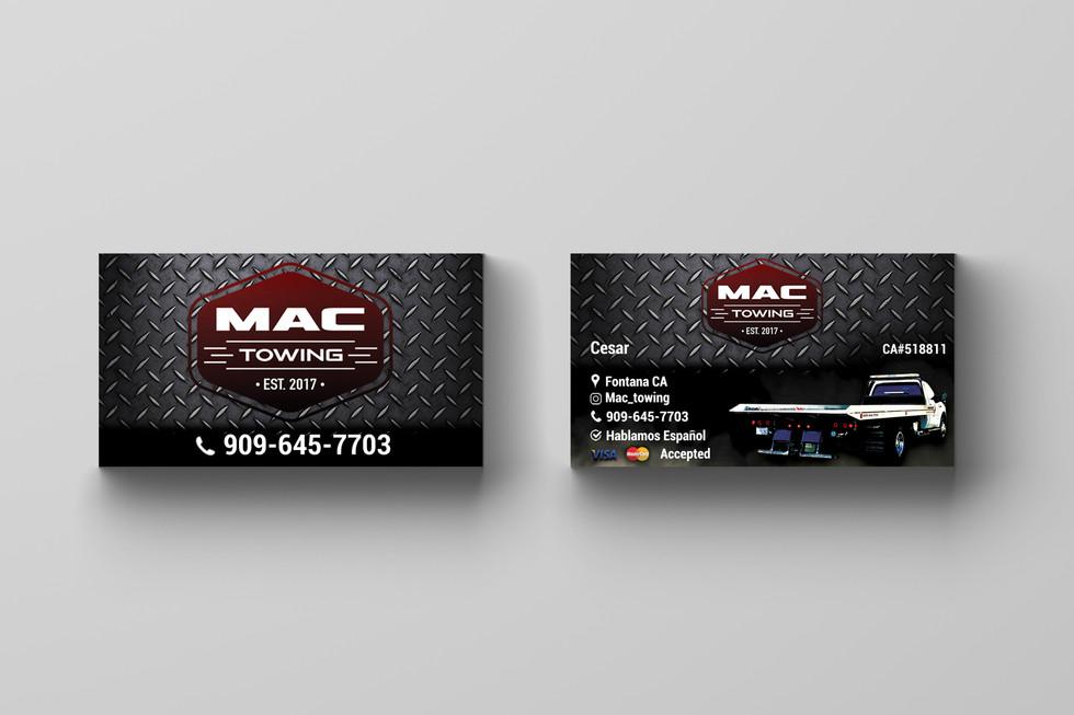 Mac Towing business card design