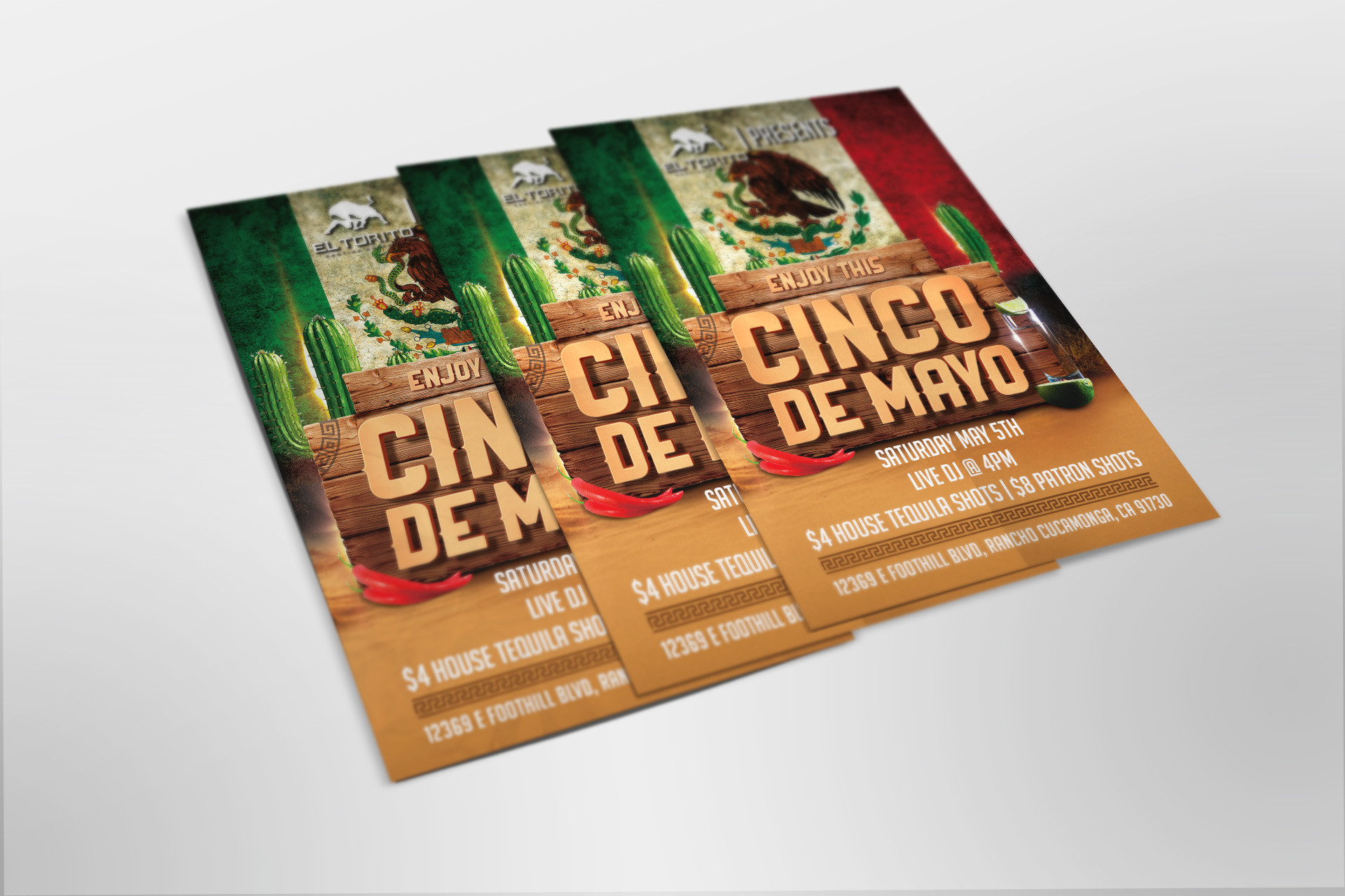 El Torito 5DeMayo promotional flyer design