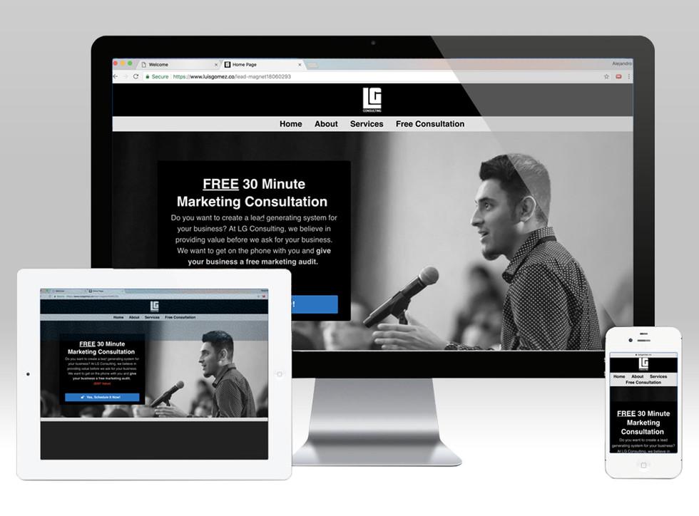 Web design desktop and mobile optimized