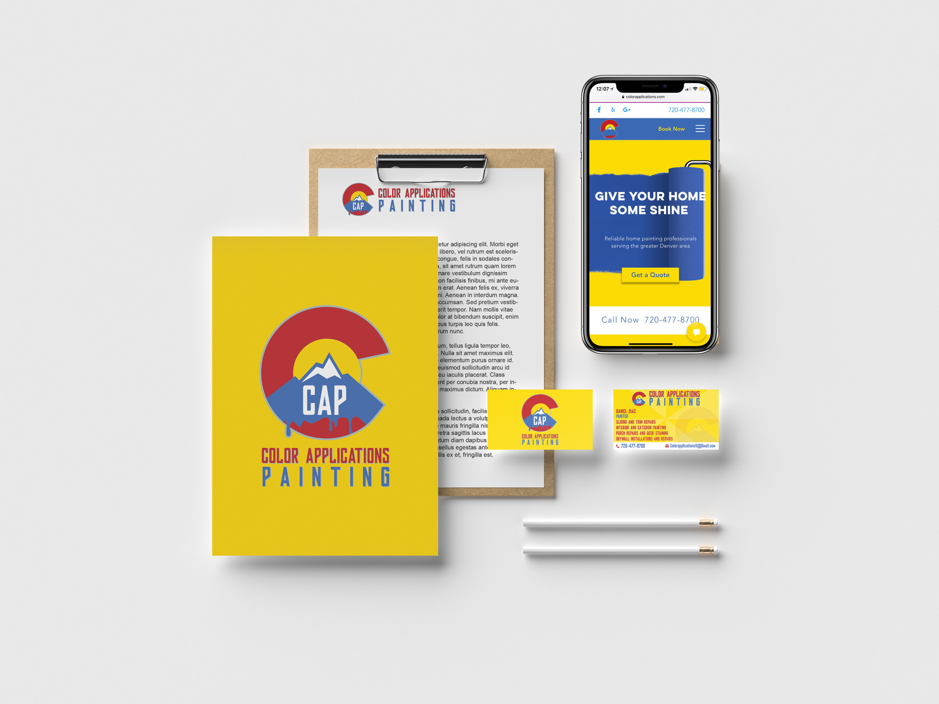 Corporate stationary branded elements