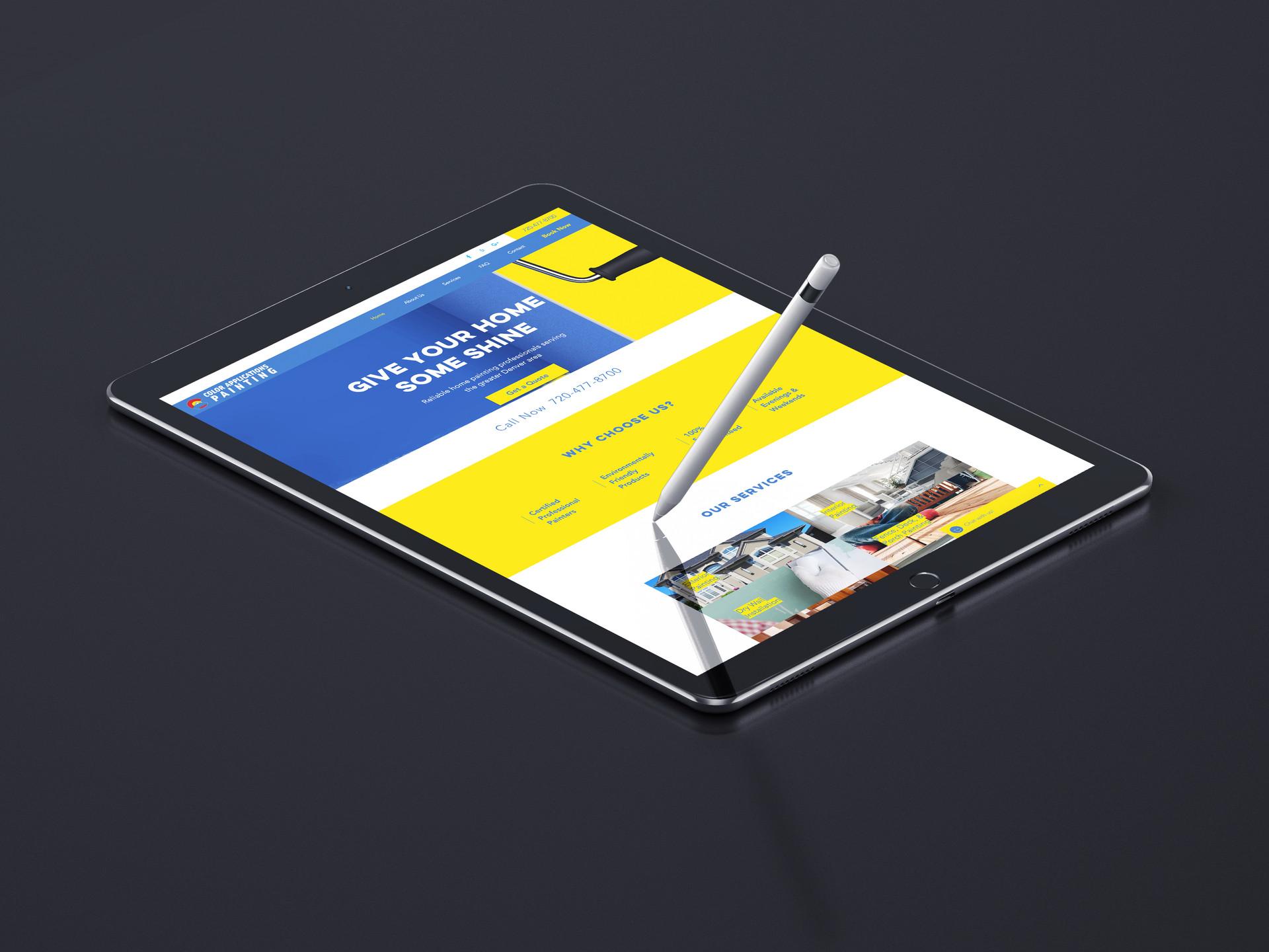 Web design mobile optimized