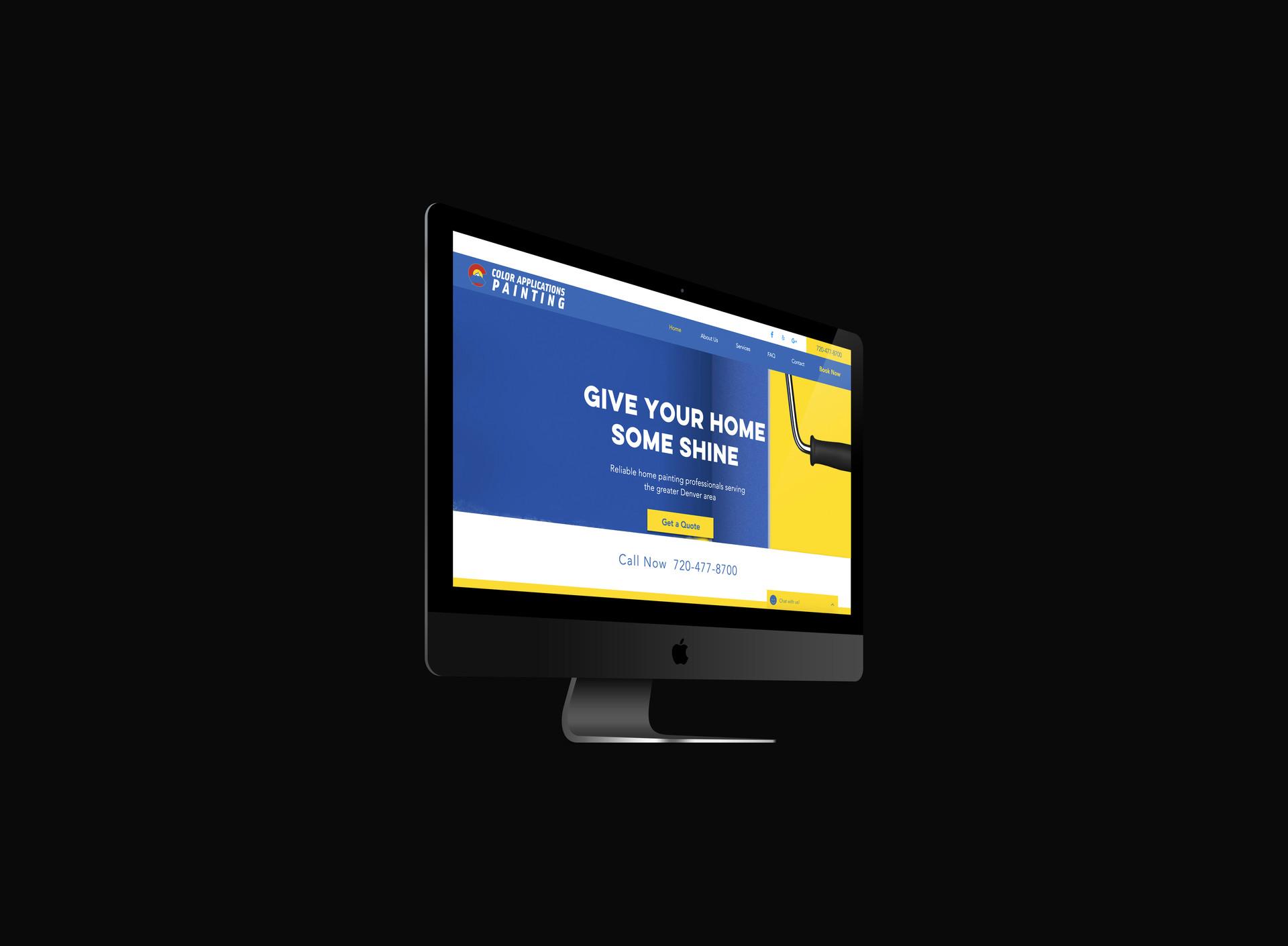 Web design desktop optimized
