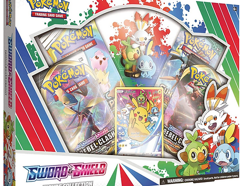 Pokemon TCG: Sword & Shield Figure Collection | 4 Booster Packs |