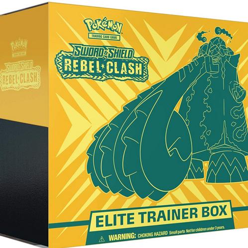 Pokemon TCG: Sword & Shield-Rebel Clash Elite Trainer Box   8 Booster Packs
