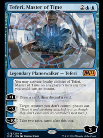 Magic the Gathering TCG: Core Set 2021 Planeswalker Deck - Teferi