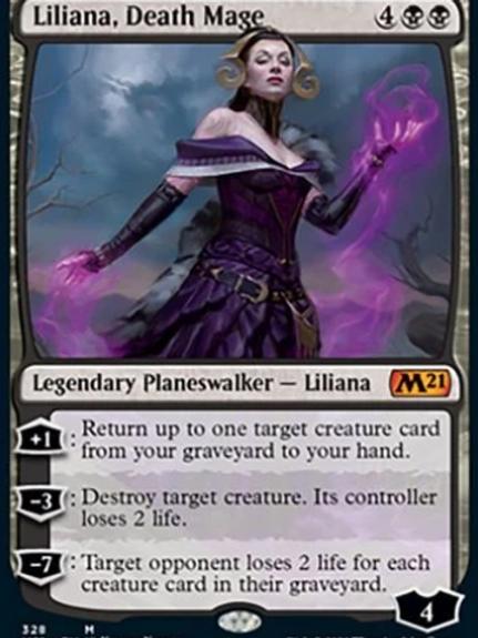Magic the Gathering TCG: Core Set 2021 Planeswalker Deck -Liliana
