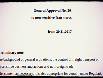 General Approval No. 30 on non-sensitive Iran deals
