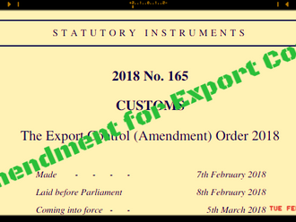 New Amendment for UK Export Control List