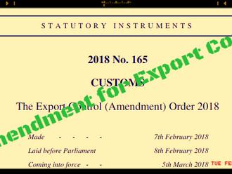 New Amendment for UK Export Control List