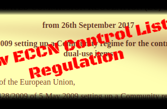 European Union Publishes a new ECCN Control List