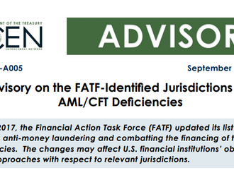 FATF updated its list for of jurisdictions with strategic AML/CFT deficiencies