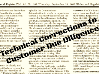 FinCEN issues updates to Customer Due Diligence final rule