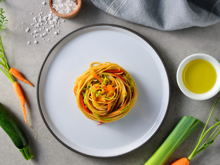 Receta Spaghetti Con Calabazas Y Zanahorias