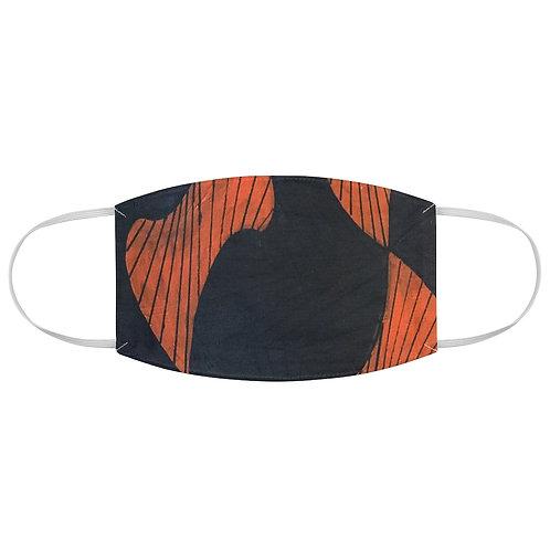Fabric Face Mask Orange Print.