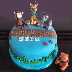Jungle Animal Novelty Cake
