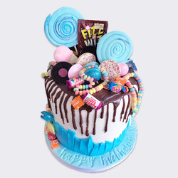 Chocolate Drip Sweetie Novelty Cake