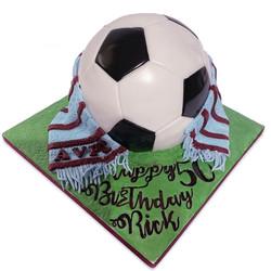 Football AVFC Novelty Cake