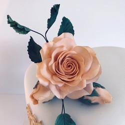 Peach Roses Sugar Flowers