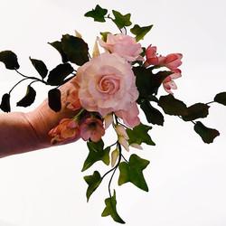 Pink Roses Sugar Flowers