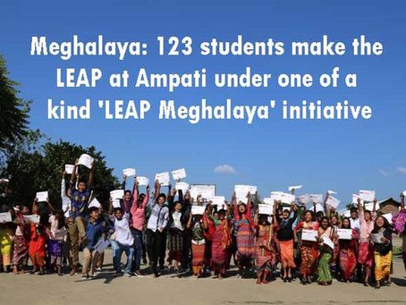 Meghalaya: 123 students make the LEAP at Ampati under one of a kind 'LEAP Meghalaya' initiative