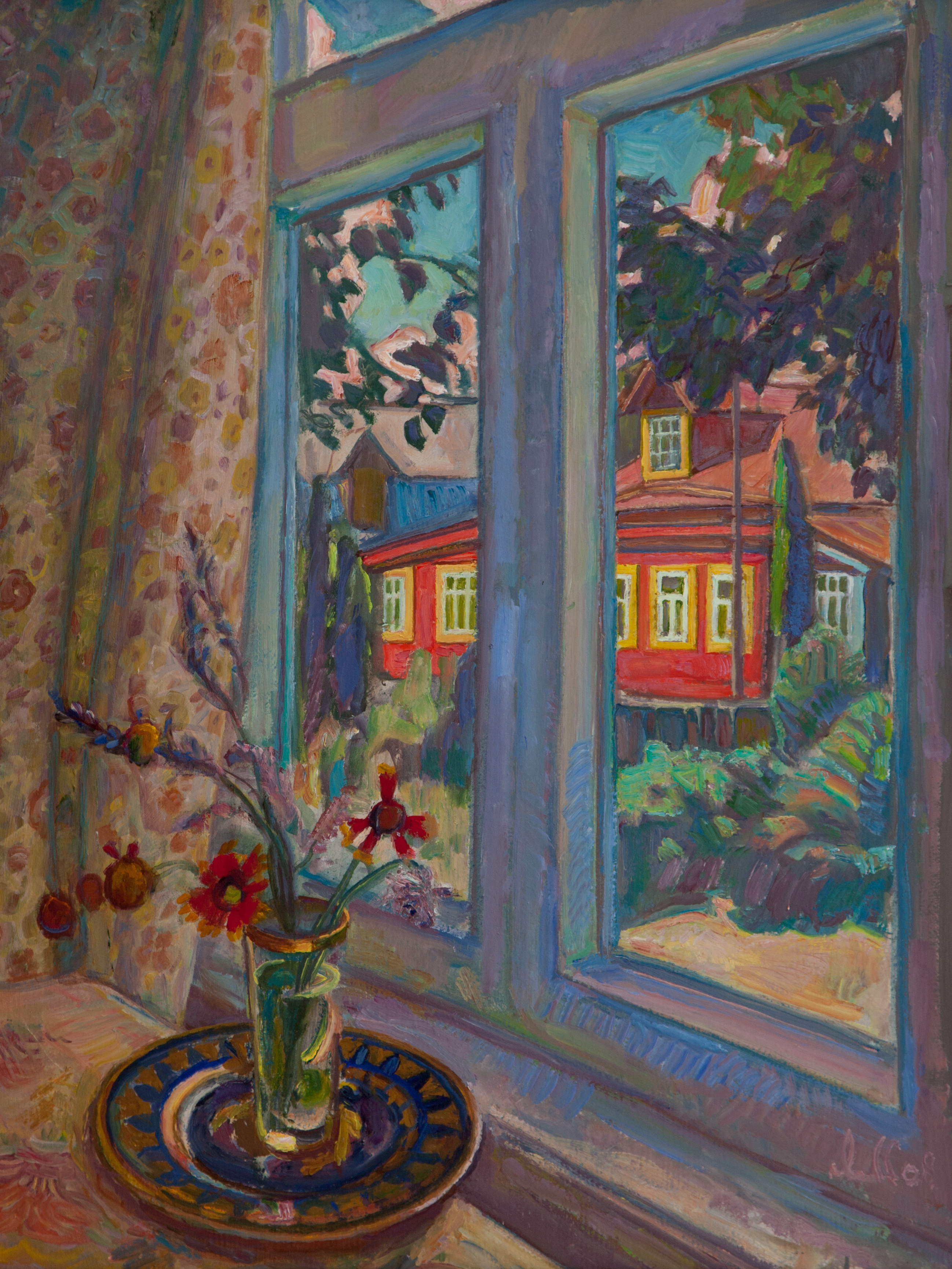 Роман Андреевич покрасил свой дом...