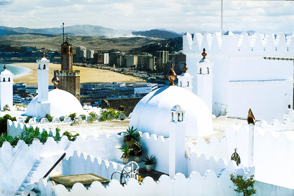Tanger vu du toit terrasse de la Casa Velasco