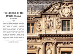 THE EXTERIOR OF THE LOUVRE PALACE