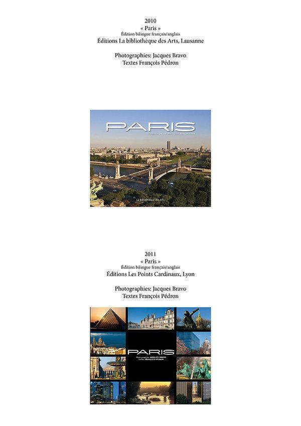 Livre Paris par Jacques Bravo et François Pedron