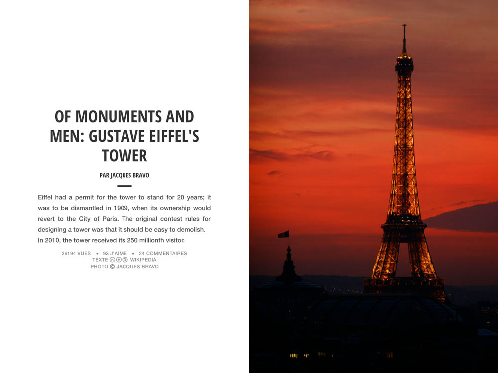 GUSTAVE EIFFEL'S TOWER