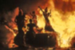 Crémation des ninots (crema) pendant les fallas de Valence en Espagne. Photographie de Jacques Bravo