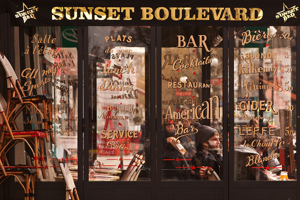Café le Sunset Boulevard, Boulevard Poissonnière, 75009 Paris