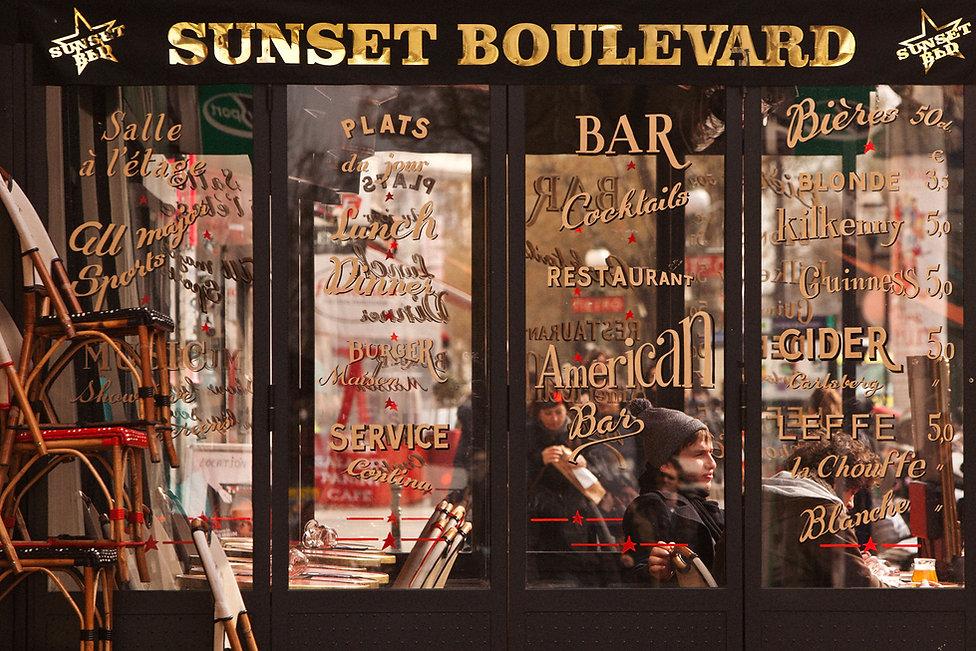 Café le Sunset Boulevard,Boulevard Poissonnière, 75009 Paris