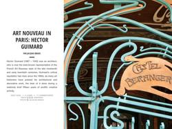 ART NOUVEAU IN PARIS: HECTOR GUIMARD