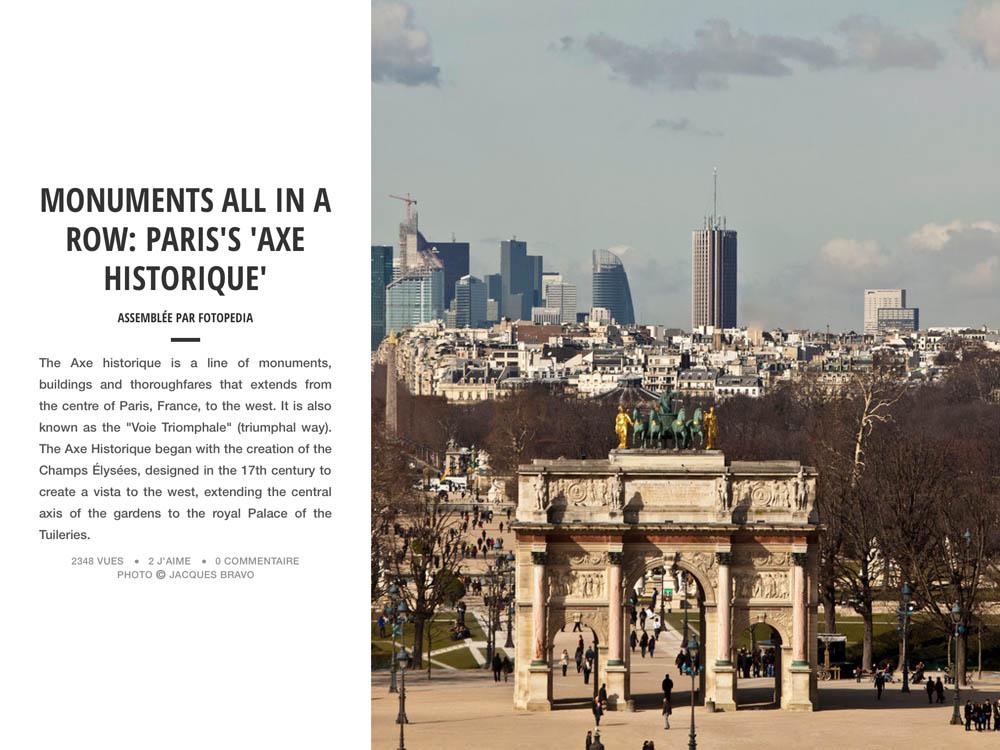 PARIS'S AXE HISTORIQUE