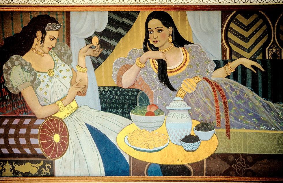 Fresque du Palais Jamai. Fès. Jacques Bravo