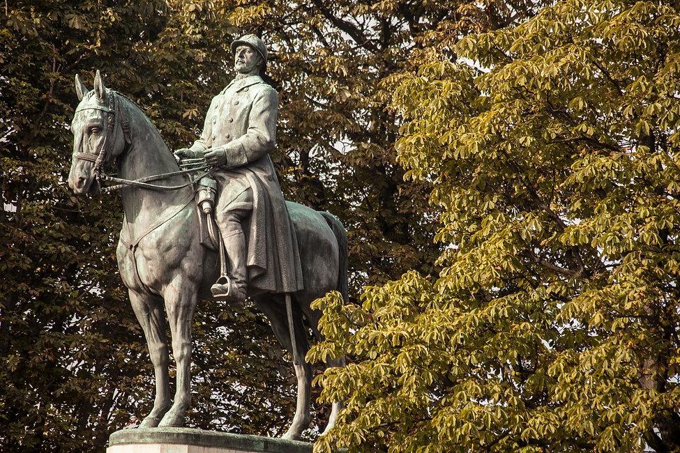 Albert 1er de Belgique par Armand Martial, Cours la Reine