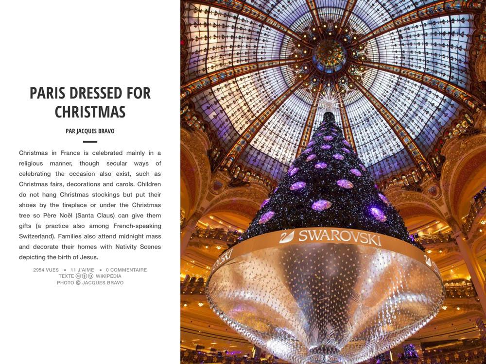 PARIS DRESSED FOR CHRISTMAS