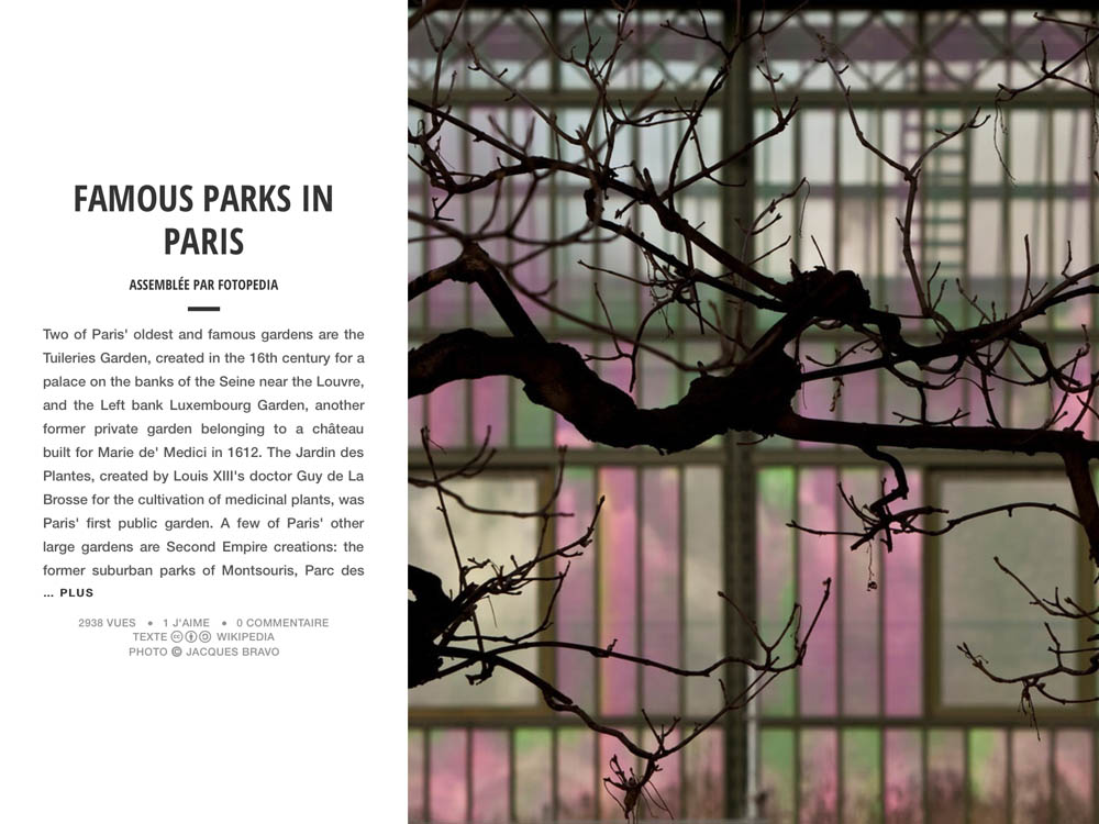 FAMOUS PARKS IN PARIS