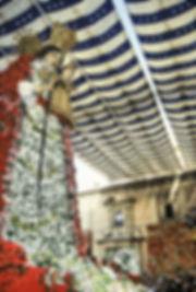 La Vierge desdésemparés pendant les fallas de Valence en Espagne. Photographie de Jacques Bravo