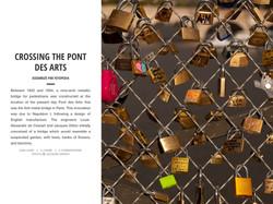 CROSSING THE PONT DES ARTS