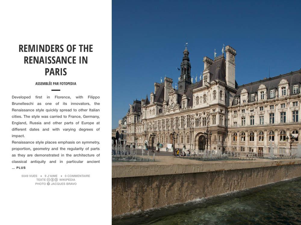 RENAISSANCE IN PARIS