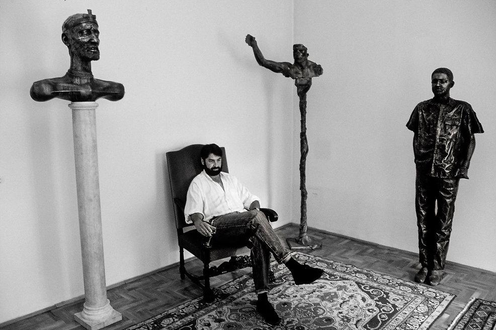 Le sculpteur Richard Torok. Photogrphie de Jacques Bravo
