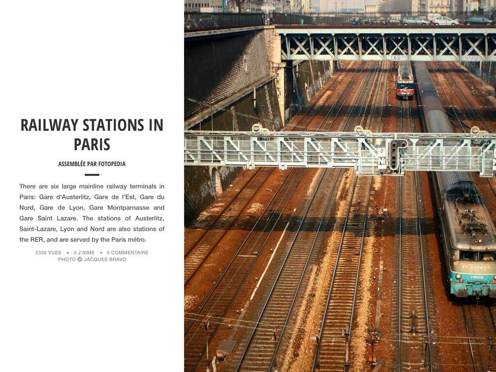 RAILWAY STATIONS IN PARIS