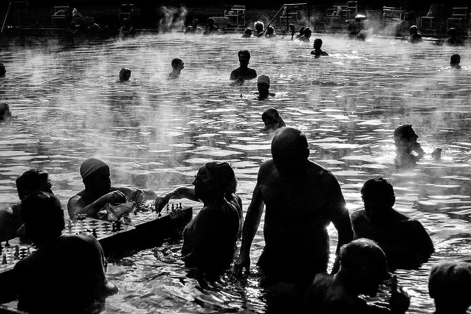 Les bains Szechenyià Budapest. Photographie de Jacques Bravo