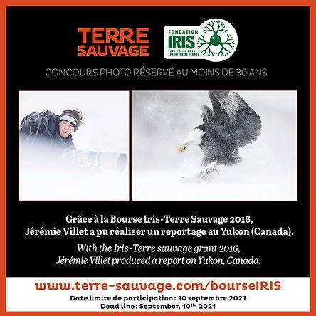 Jérémie Villet, bourse iris, Yukon, Canada, Aigle