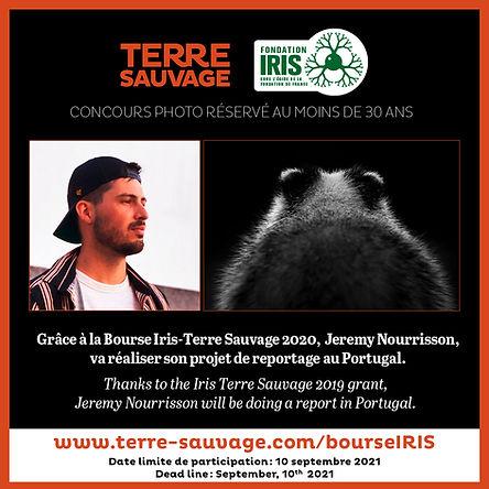 BOURSE IRIS, Jérémy Nourrisson, ours vue de dos