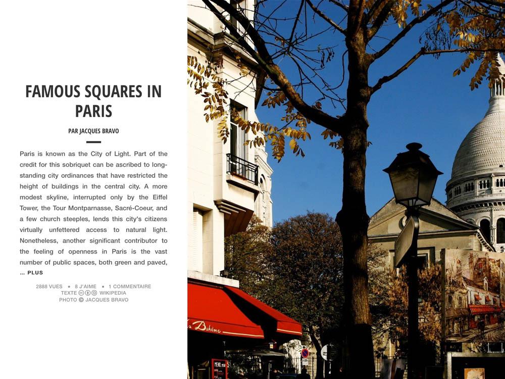 FAMOUS SQUARES IN PARIS