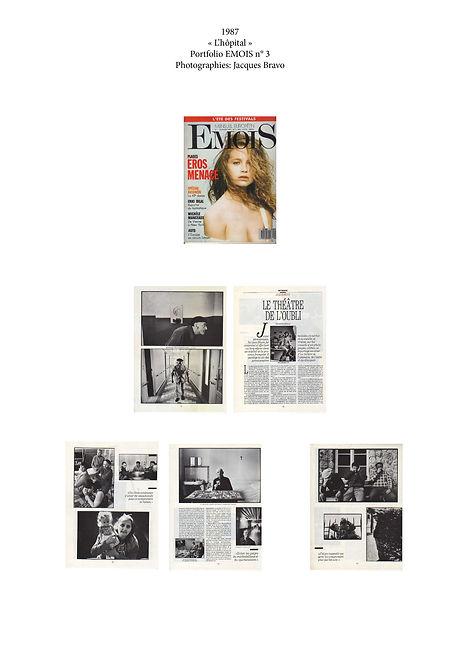 magazine Emois N°3. Le théatre de l'oubli. Photographies de Jacques Bravo