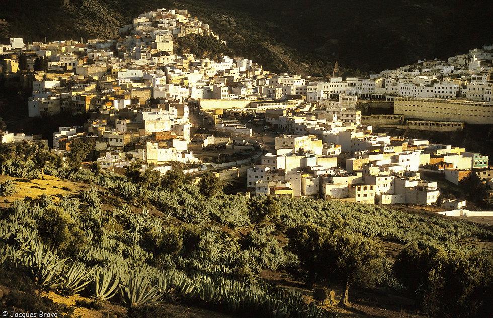 La ville de Moulay Idriss.Jacques Bravo