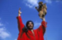 Montreur de singes sur la place Jemaa el Fna